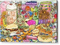 Calorie Gremlins Acrylic Print
