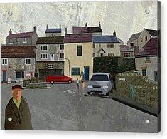 Calver Village Acrylic Print by Kenneth North