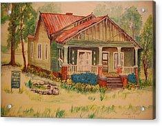 Calvin Baber House Acrylic Print by Lynn Beazley Blair