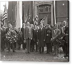 Acrylic Print featuring the photograph Calvin Coolidge Springfield Ma 1925 by Martin Konopacki Restoration