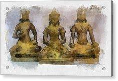 Cambodia Antique Temple Acrylic Print by Teara Na