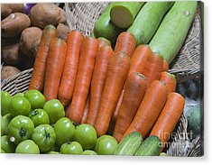 Cambodian Carrots Acrylic Print by Craig Lovell