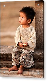 Cambodian Girl 02 Acrylic Print by Rick Piper Photography
