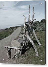 Cambria Driftwood Bench 2 Acrylic Print