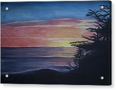 Acrylic Print featuring the painting Cambria Setting Sun by Ian Donley