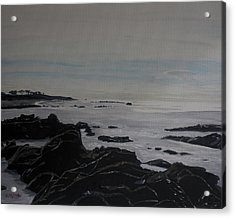 Acrylic Print featuring the painting Cambria Tidal Pools by Ian Donley