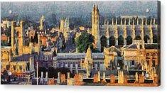 Cambridge Panorama Acrylic Print by Georgi Dimitrov