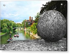 Punting In Cambridge Acrylic Print
