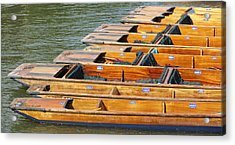 Cambridge Punts Acrylic Print by Donald Turner