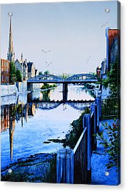 Cambridge Summer Morning Acrylic Print by Hanne Lore Koehler