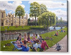 Cambridge Summer Acrylic Print by Richard Harpum