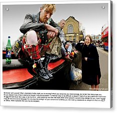 Camden Lock Drinkers Acrylic Print by Mike Hoyle