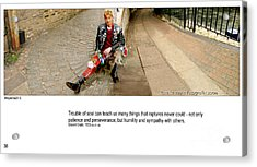 Camden Lock Path Acrylic Print by Mike Hoyle