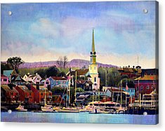 Camden Maine Harbor Acrylic Print