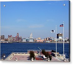Camden Waterfront Acrylic Print by Olivier Le Queinec