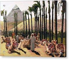 Camel Caravan Jockey Acrylic Print