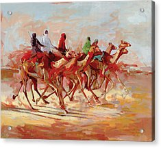 Camel Race Acrylic Print