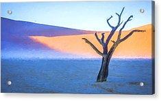 Camel Thorn Dawn - Dead Vlei Digital Art Acrylic Print