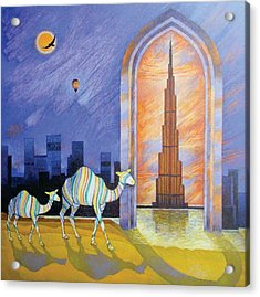 Camels In The Wonderland  Acrylic Print