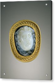 Cameo Gem Set Into A Mount Gem Unknown Acrylic Print