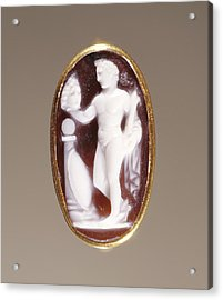 Cameo Gem Set Into A Ring Unknown Rome Acrylic Print