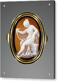 Cameo Set Into A Ring Hermaphrodite Possibly By Protarchos Acrylic Print