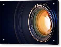 Camera Lens Background Acrylic Print by Johan Swanepoel