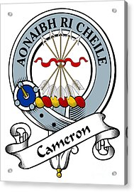 Cameron Clan Badge Acrylic Print by Heraldry