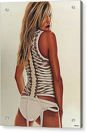 Cameron Diaz Painting Acrylic Print by Paul Meijering