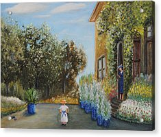 Camille And Jean Monet Acrylic Print