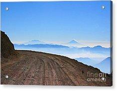 Camino En Volcan Nevado De Toluca Acrylic Print