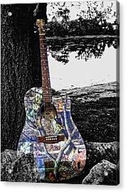 Camo Guitar Acrylic Print