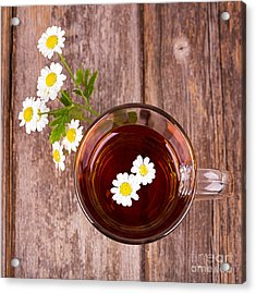Camomile Tea Acrylic Print by Jane Rix