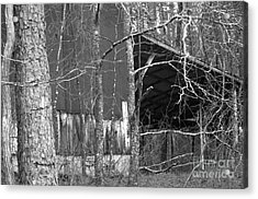 Camouflage Black And White Ver 1 Acrylic Print by Affini Woodley