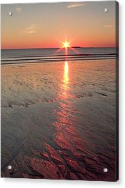 Acrylic Print featuring the photograph Camp Ellis Beach Sunrise 2013-10-19 by Jeremy McKay