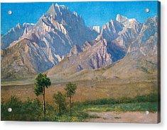 Camp Independence Colorado Acrylic Print by Albert Bierstadt