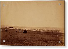 Camp Of The 3rd Division, French Tents In The Distance Acrylic Print by Quint Lox