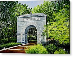 Camp Randall Acrylic Print by Thomas Kuchenbecker