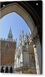 Campanile And Doges Palace Courtyard Acrylic Print