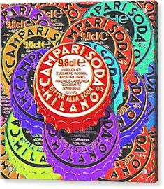 Campari Soda Caps Acrylic Print by Tony Rubino