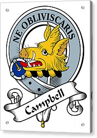 Campbell Clan Badge Acrylic Print by Heraldry