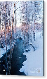 Campbell Creek In Hoarfrost Acrylic Print