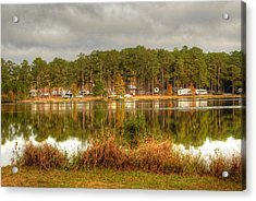 Campers Across The Lake Acrylic Print