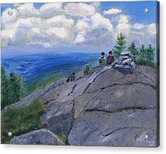 Campers On Mount Percival Acrylic Print
