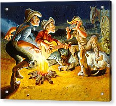 Campfire Concert Acrylic Print by Nate Owens
