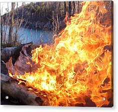 Acrylic Print featuring the photograph Campfire by James Peterson