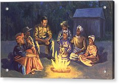 Campfire Stories Acrylic Print by Colin Bootman