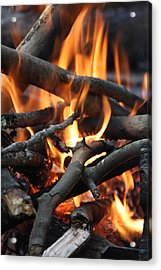 Campfire Acrylic Print by Vadim Levin