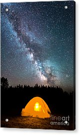 Camping Under The Stars Acrylic Print