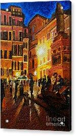 Campo Di Fiori- Italy Acrylic Print